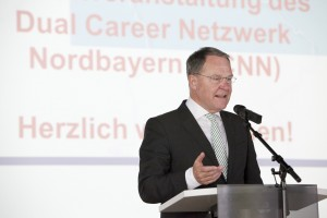 Begrüßung des Bayerischen Staatsministers für Wissenschaft, Forschung und Kunst, Dr. Heubisch